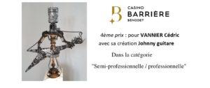 4ème Prix - concours recyclez créatif - casino BARRIERE de BENODET