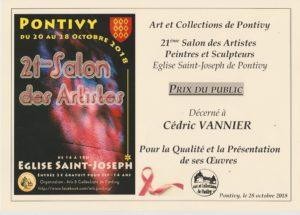 Prix du Public - 21ème Salon Art et Collections de PONTIVY